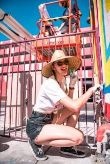 Egle Zvirblyte, Life is Beautiful 2018. Downtown Las Vegas. Photo Credit Justkids