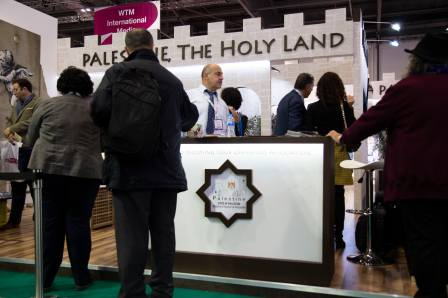Banksy, The Walled Off Hotel, Palestine Stand, World Trade Market, London Excel 2018. Photo Credit GraffitiStreet