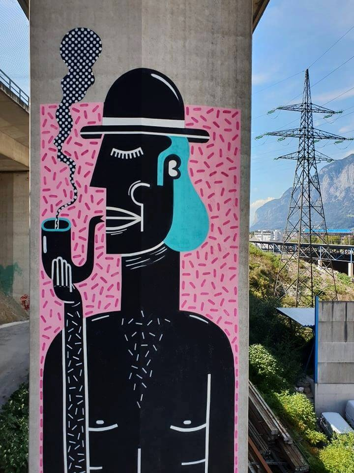 Joachim, Street Art at Dizzy New Heights 2018