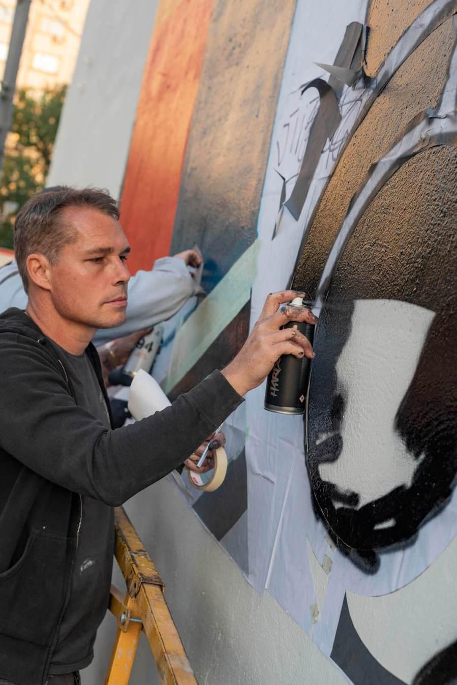 Shepard Fairey, Obey, Street Art Biennale, Artmossphere, Moscow. 2018 Photo Credit Vasiliy Kudryavtsev