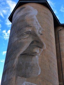Rone, Wimmera-Mallee Trail Silo Art Trail -Lascelles is the eighth silo in the Australian Silo Art Trail. Photo Credit Annette Green