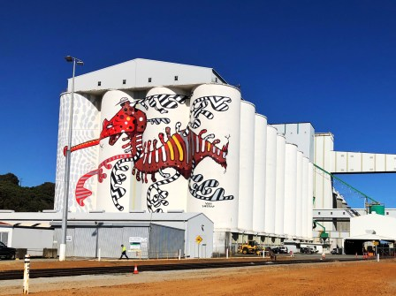 Yok & Sheryo – PUBLIC Silo Trail of Western Australia –Albany Silos were completed in March 2018. Photo Credit Annette Green