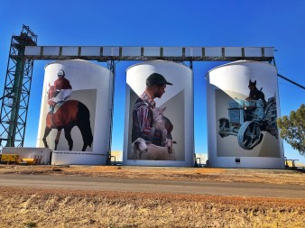 Evoca1 – PUBLIC Silo Trail of Western Australia –Pingrup Silos were completed in September 2018. Photo Credit Annette Green