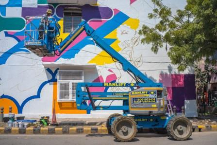 Yoh Nagao, Lodhi Art Festival, Delhi 2019. Photo credit Akshat