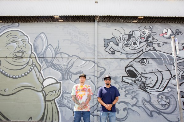Lucky Olelo and Ckaweeks, POW! WOW! Hawaii 2019. Photo Credit Ianny catches walls