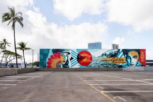 Shepard Fairey, POW! WOW! Hawaii 2019. Photo Credit Brandon Shigeta