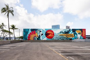 Shepard Fairey, POW! WOW! Hawaii 2019. Photo Credit Brandon Shigeta
