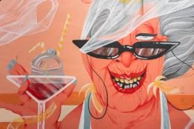 Marina Capdevila, The Crystal Ship Street Art Festival, Ostend, Belgium 2019.