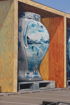 Leon Keer, The Crystal Ship Street Art Festival, Ostend, Belgium 2019. Photo Credit Algomas