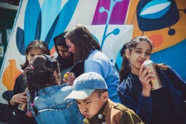 Ruben Sanchez's Latest Mural Revives the Lost Art of Caring, Moria Camp Lesbos 2019. Photo Credit Nicoleta ContouliMédecins Sans Frontières