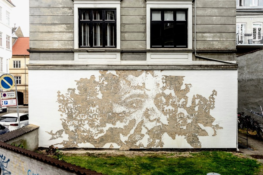 "VHILS,""Out in the Open"", Aalborg 2019. Photo Credit VHILS studio"