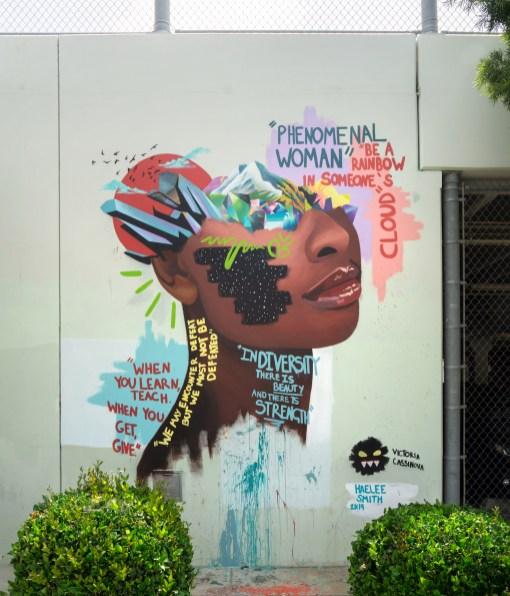 Victoria Cassinova, Maya Angelou Mural Festival, Los Angeles 2019. Photo Credit Static Medium