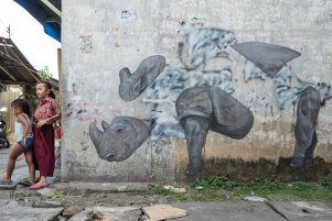 ESCIF, 'RHINO' Splash and Burn, Sumatra 2019. Photo Credit Ernest Zacharevic