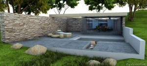 Making of  sketchup  vray  stone house 16