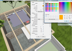 Making of  sketchup  vray  stone house 18