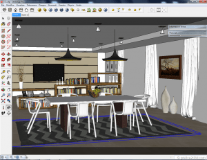 Sketchup tutorial interior #111 c