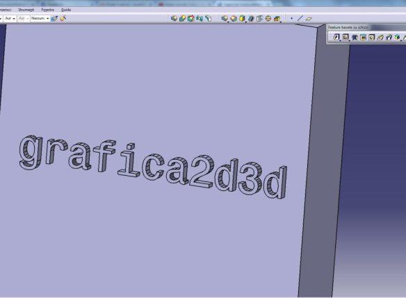 Catia v5 creare un testo in rilievo