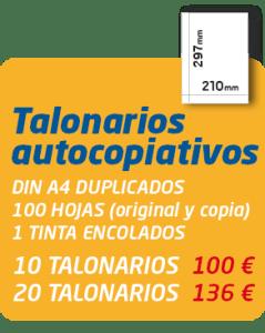 Graficas Mundo - Oferta talonarios autocopiativos din a4 original + copia