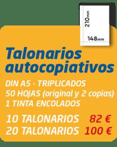 Graficas Mundo - Oferta talonarios autocopiativos din a5 triplicados