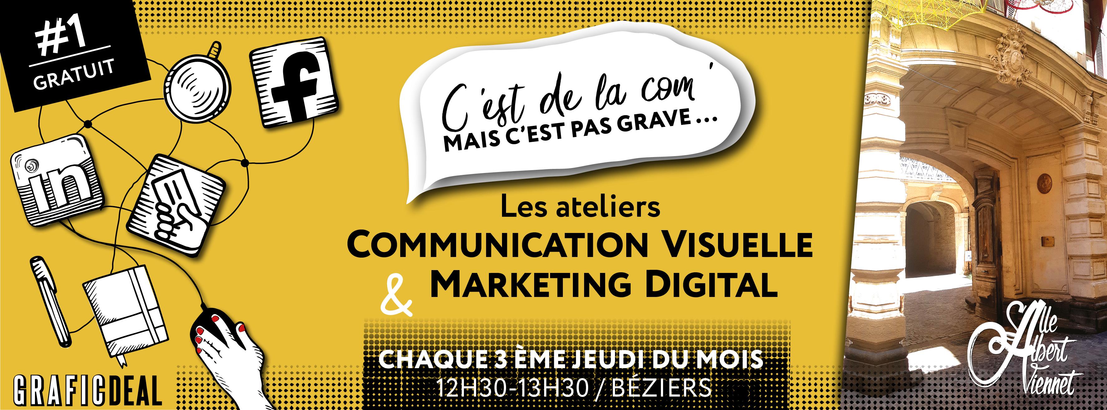 présentation ateliers graphiste et marketing digital à Béziers