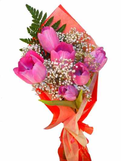 ramo de tulipanes lilas