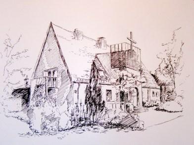 Zeichnung - Ev. Kirche Chieming