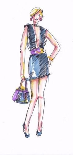 Modezeichnen-Figurine-bekleidet