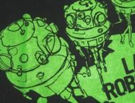 tinkertoys, lars roboter, shirts, band shirts, bandshirts, siebdruck, screen print, shirt druck, asphalt, anthrazit, grün, waldbrand media