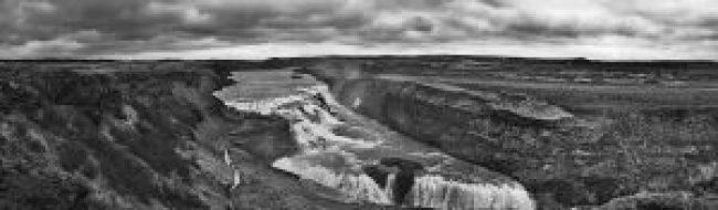 Gulfoss, Wasserfall, Island, iceland, waterfall, panorama, schwarz weiss, black white, waldbrand media, photography, fotografie, image, free stock images, lizenzfrei, kostenlos