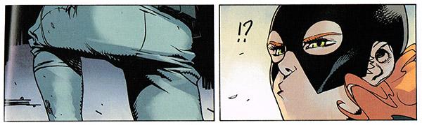 Batgirl reconoce el culo de Nightwing en su cómic, esa memoria fotografica...