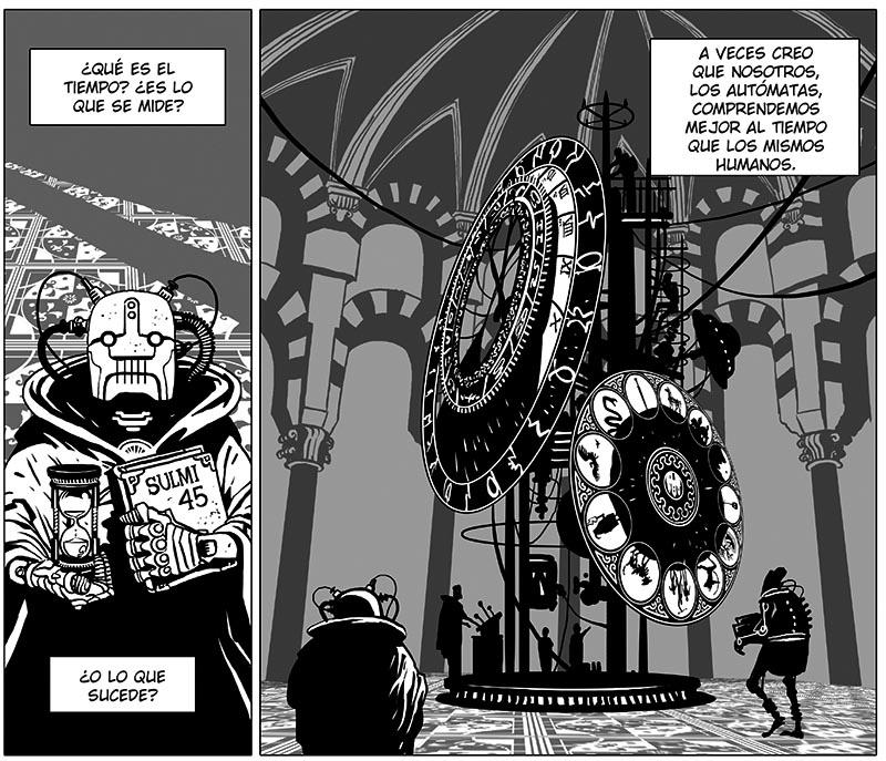 desierto de metal es un cómic con viajes a traves del tiempo, entre otras cosas