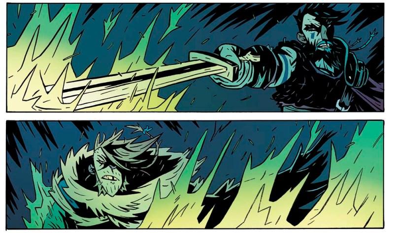 El rey araña, un cómic de  Josh Vann y el dibujante Simone D'Armini. Vikingos y parásitos alienigenas