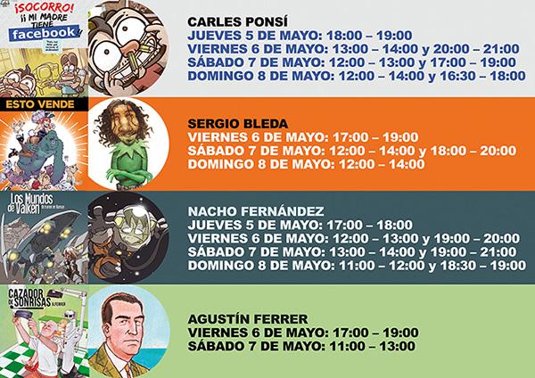 Salón del cómic de Barcelona 2016, firmas de los dibujantes de cómic de Grafito editorialfirmas grafito editorial 2016 salon comic