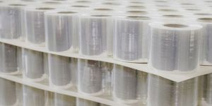 Multiple rolls of plastic film and sheets