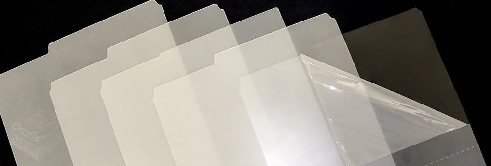 Image of surface protection film on clear plastic film