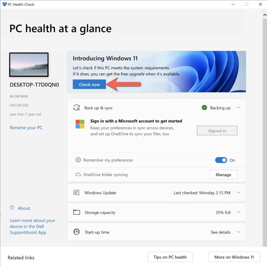 PC Health Check Tool
