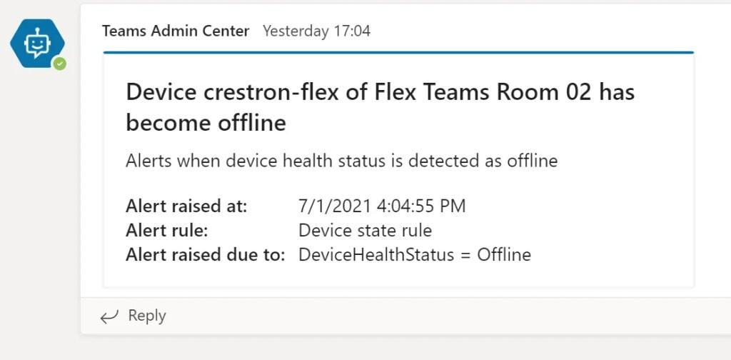 Teams Device Alerts