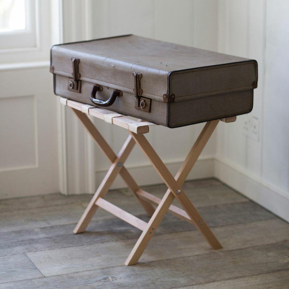 beech folding luggage rack
