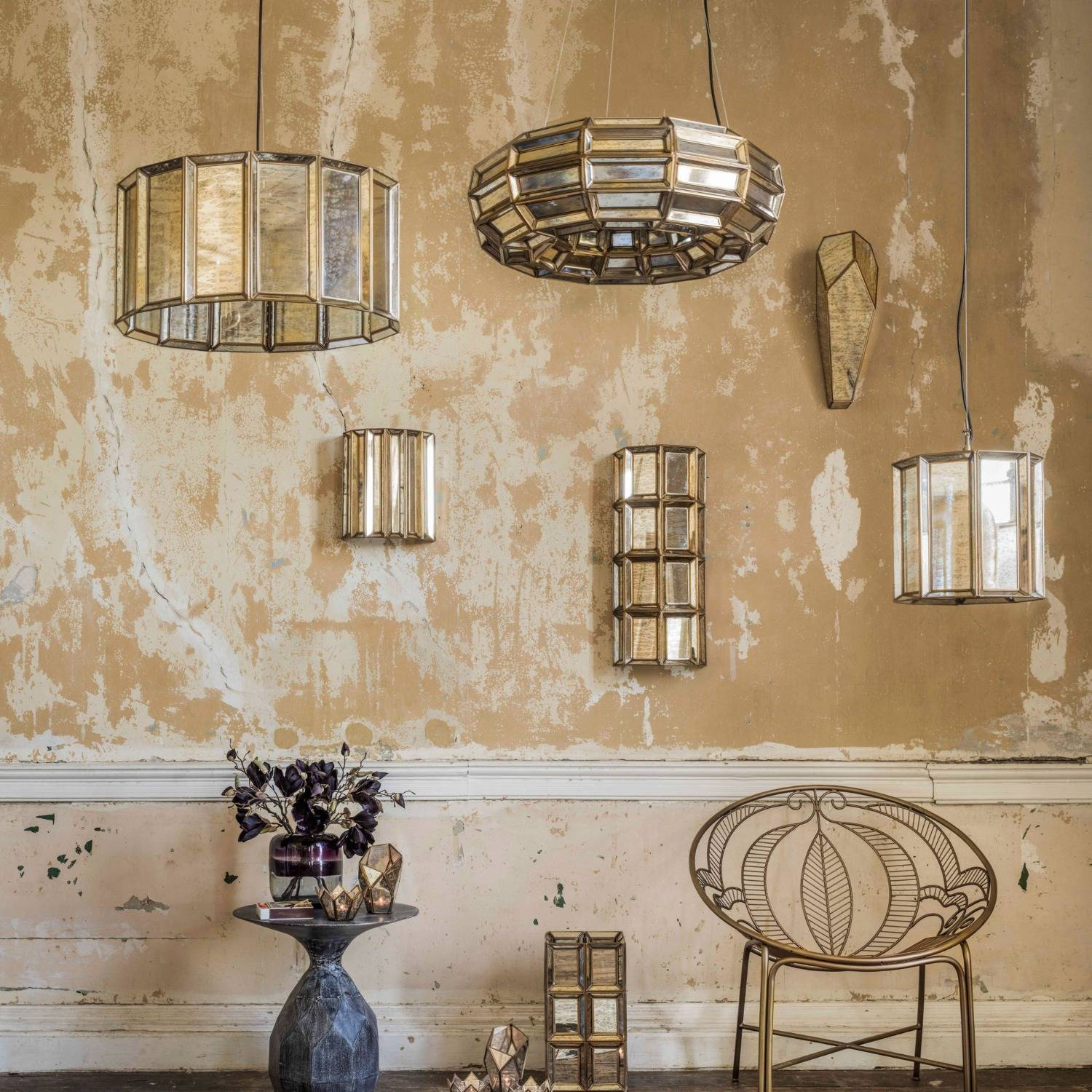 faceted deco lighting