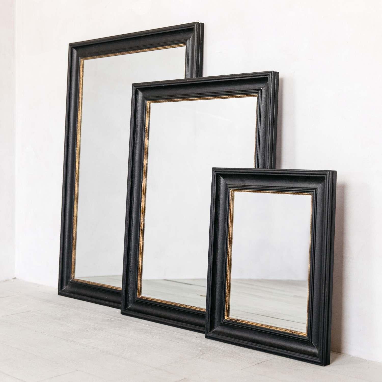 blake black and gold antiqued mirrors