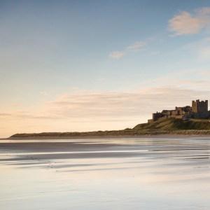 Footsteps on Bamburgh Castle beach