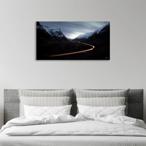 Glencoe pass light trails Scotland print