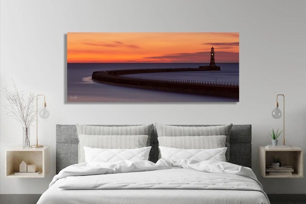 Roker Pier Wall Canvas