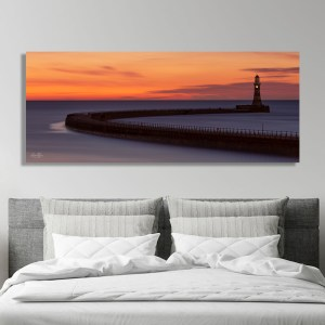Roker Pier Wall Canvas