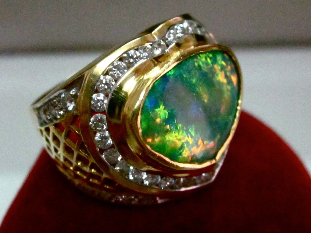 Australian Opal Ring Handmade Engagement Opal Rings Opal
