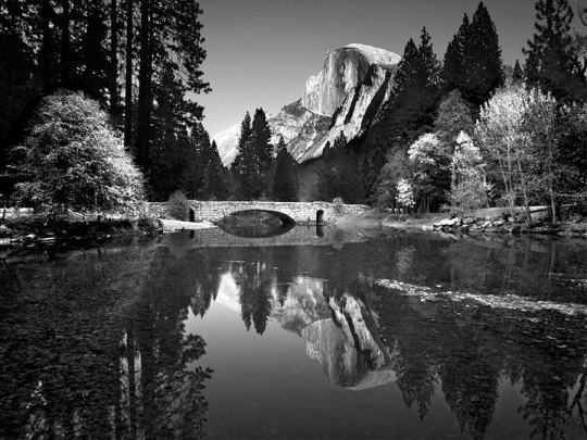 Mountain Reflection, Ansel Adams