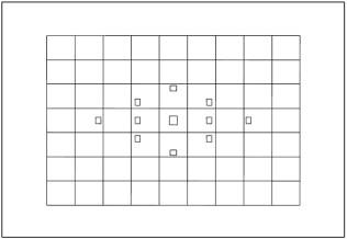 Canon EOS 6D Autofocus Point Grid
