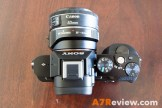 Sony A7R with Metabones EF Adapter and Canon 40mm 2.8 and Metabones EF Adapter top
