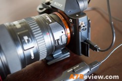 Sony A7R with the Canon 17-40mm and Shutter Release