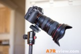 Sony A7R with the Canon 17-40mm on a tripod